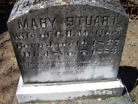 STUART MATLOCK, MARY A. - Lawrence County, Arkansas | MARY A. STUART MATLOCK - Arkansas Gravestone Photos