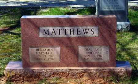 "BROOKS MATTHEWS, OPAL FAYE ""MAMA FAYE"" - Lawrence County, Arkansas 