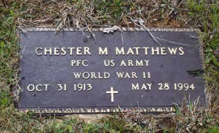 MATTHEWS (VETERAN WWII), CHESTER M. - Lawrence County, Arkansas | CHESTER M. MATTHEWS (VETERAN WWII) - Arkansas Gravestone Photos