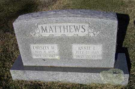 MATTHEWS, CHESLEY E. M. - Lawrence County, Arkansas | CHESLEY E. M. MATTHEWS - Arkansas Gravestone Photos
