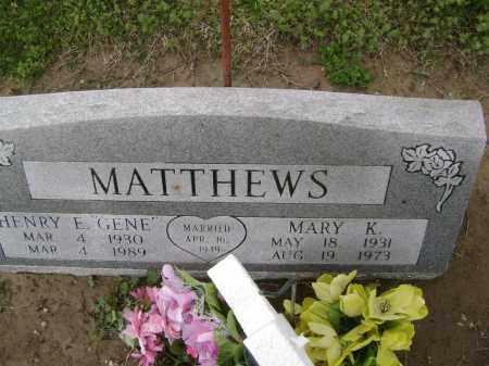 MATTHEWS, MARY K. - Lawrence County, Arkansas | MARY K. MATTHEWS - Arkansas Gravestone Photos
