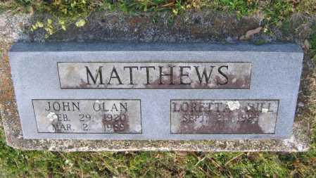 MATTHEWS, JOHN OLAN - Lawrence County, Arkansas | JOHN OLAN MATTHEWS - Arkansas Gravestone Photos