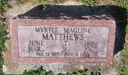 MATTHEWS, MYRTLE MAGLINE - Lawrence County, Arkansas   MYRTLE MAGLINE MATTHEWS - Arkansas Gravestone Photos