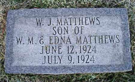 MATTHEWS, W. J. - Lawrence County, Arkansas | W. J. MATTHEWS - Arkansas Gravestone Photos