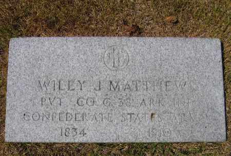 MATTHEWS (VETERAN CSA), WILEY JOHN - Lawrence County, Arkansas   WILEY JOHN MATTHEWS (VETERAN CSA) - Arkansas Gravestone Photos