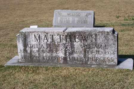 MORGAN MATTHEWS, ADELIA E. - Lawrence County, Arkansas | ADELIA E. MORGAN MATTHEWS - Arkansas Gravestone Photos