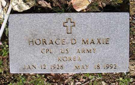 MAXIE (VETERAN KOR), HORACE D. - Lawrence County, Arkansas   HORACE D. MAXIE (VETERAN KOR) - Arkansas Gravestone Photos