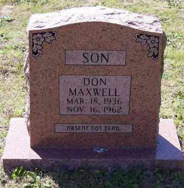 "MAXWELL, DONALD ""DON"" - Lawrence County, Arkansas   DONALD ""DON"" MAXWELL - Arkansas Gravestone Photos"