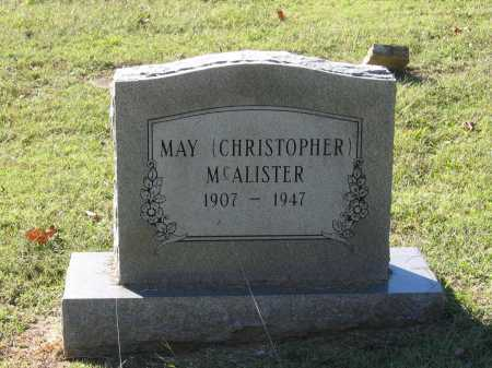 CHRISTOPHER MCALISTER, MAY - Lawrence County, Arkansas | MAY CHRISTOPHER MCALISTER - Arkansas Gravestone Photos