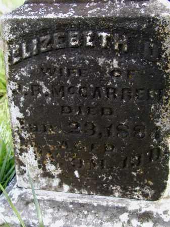 MCCARROLL, ELIZABETH - Lawrence County, Arkansas | ELIZABETH MCCARROLL - Arkansas Gravestone Photos
