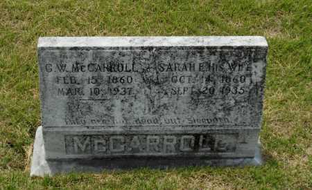 WARD MCCARROLL, SARAH ELLEN - Lawrence County, Arkansas | SARAH ELLEN WARD MCCARROLL - Arkansas Gravestone Photos