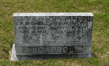 WARD MCCARROLL, SARAH ELLEN - Lawrence County, Arkansas | SARAH ELLEN WARD MCCARROLL - Arkansas Gravestone Photos
