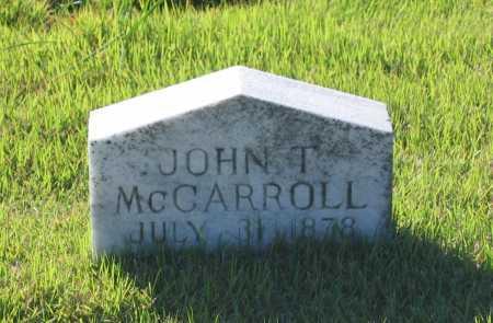 MCCARROLL, JOHN THOMAS - Lawrence County, Arkansas | JOHN THOMAS MCCARROLL - Arkansas Gravestone Photos