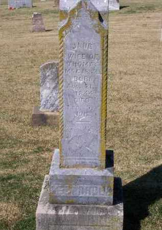 MCCARROLL, JANE BALFOUR - Lawrence County, Arkansas | JANE BALFOUR MCCARROLL - Arkansas Gravestone Photos