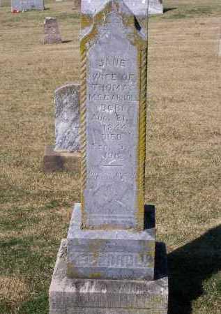 DEAN MCCARROLL, JANE BALFOUR - Lawrence County, Arkansas | JANE BALFOUR DEAN MCCARROLL - Arkansas Gravestone Photos