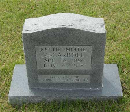 MOORE MCCARROLL, NETTIE THURMAN - Lawrence County, Arkansas | NETTIE THURMAN MOORE MCCARROLL - Arkansas Gravestone Photos