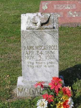 "MCCARROLL, ROBERT FRANKLIN ""FRANK"" - Lawrence County, Arkansas | ROBERT FRANKLIN ""FRANK"" MCCARROLL - Arkansas Gravestone Photos"