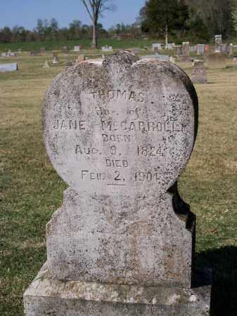 MCCARROLL (VETERAN CSA), THOMAS - Lawrence County, Arkansas | THOMAS MCCARROLL (VETERAN CSA) - Arkansas Gravestone Photos