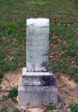 MCCARROLL, WALTER G. - Lawrence County, Arkansas | WALTER G. MCCARROLL - Arkansas Gravestone Photos