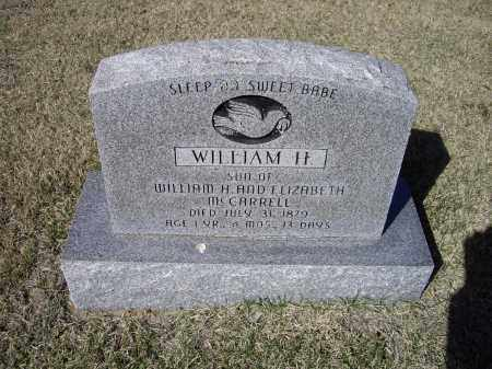 MCCARROLL II, WILLIAM HENDERSON - Lawrence County, Arkansas   WILLIAM HENDERSON MCCARROLL II - Arkansas Gravestone Photos