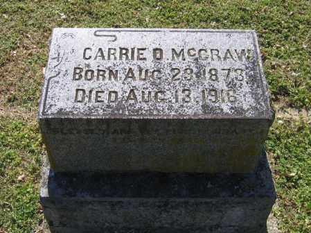 MCCRAW, CARRIE O. - Lawrence County, Arkansas   CARRIE O. MCCRAW - Arkansas Gravestone Photos