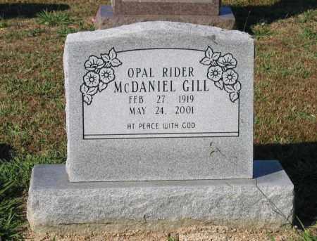 GILL, OPAL VIRGINIA RIDER MCDANIEL - Lawrence County, Arkansas | OPAL VIRGINIA RIDER MCDANIEL GILL - Arkansas Gravestone Photos