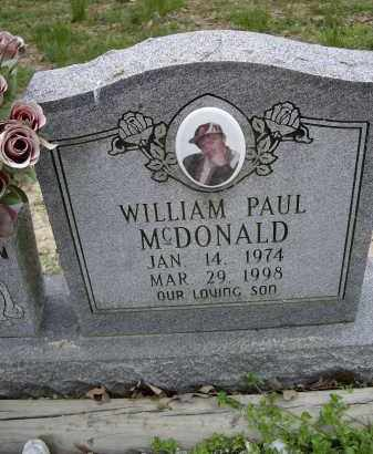 MCDONALD, WILLIAM PAUL - Lawrence County, Arkansas   WILLIAM PAUL MCDONALD - Arkansas Gravestone Photos