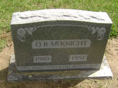 "MCKNIGHT, ORIS ROSCOE ""O.R."" - Lawrence County, Arkansas   ORIS ROSCOE ""O.R."" MCKNIGHT - Arkansas Gravestone Photos"