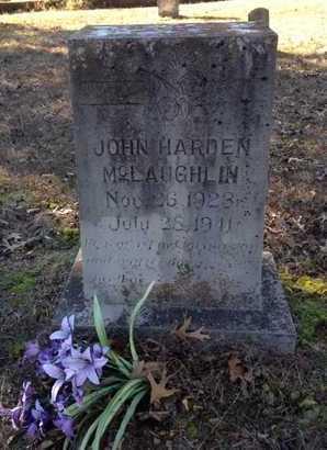 MCLAUGHLIN, JOHN HARDEN - Lawrence County, Arkansas   JOHN HARDEN MCLAUGHLIN - Arkansas Gravestone Photos