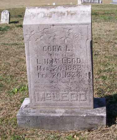 MCLEOD, CORA L. - Lawrence County, Arkansas | CORA L. MCLEOD - Arkansas Gravestone Photos