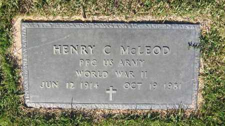 MCLEOD (VETERAN WWII), HENRY CLEVELAND - Lawrence County, Arkansas | HENRY CLEVELAND MCLEOD (VETERAN WWII) - Arkansas Gravestone Photos