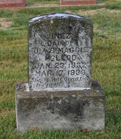 MCLEOD, INEZ - Lawrence County, Arkansas | INEZ MCLEOD - Arkansas Gravestone Photos
