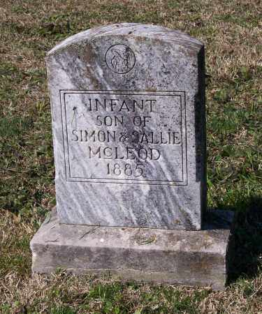 MCLEOD, INFANT SON - Lawrence County, Arkansas   INFANT SON MCLEOD - Arkansas Gravestone Photos