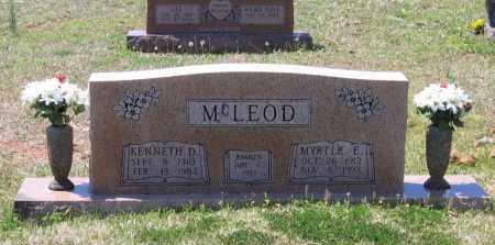 MCLEOD, KENNETH DURWARD - Lawrence County, Arkansas | KENNETH DURWARD MCLEOD - Arkansas Gravestone Photos