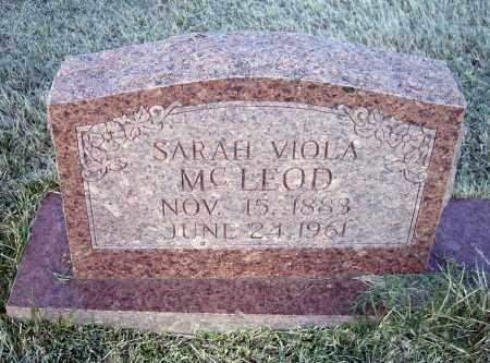 MCLEOD, SARAH VIOLA - Lawrence County, Arkansas | SARAH VIOLA MCLEOD - Arkansas Gravestone Photos