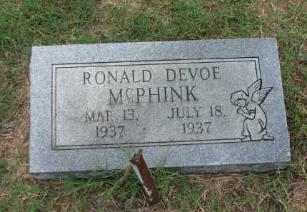 MCPHINK, RONALD DEVOE - Lawrence County, Arkansas   RONALD DEVOE MCPHINK - Arkansas Gravestone Photos