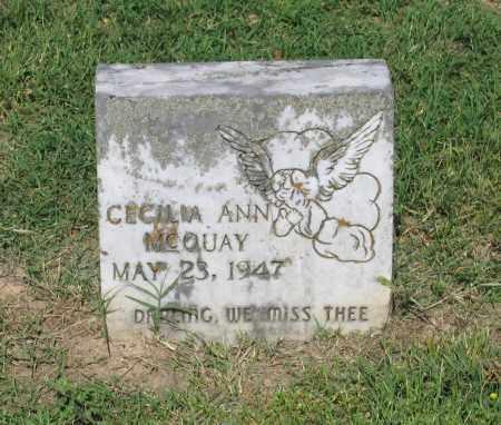 MCQUAY, CECILIA ANN - Lawrence County, Arkansas   CECILIA ANN MCQUAY - Arkansas Gravestone Photos