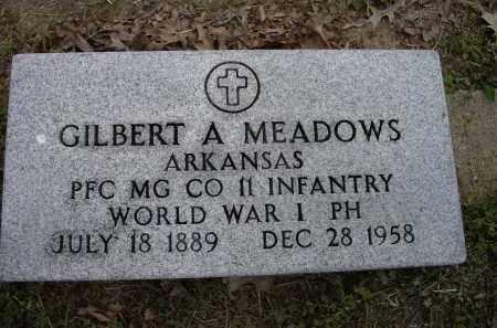 MEADOWS (VETERAN WWI), GILBERT A. - Lawrence County, Arkansas | GILBERT A. MEADOWS (VETERAN WWI) - Arkansas Gravestone Photos