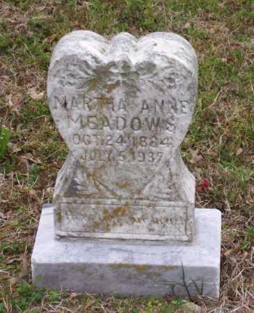 MEADOWS, MARTHA ANNE - Lawrence County, Arkansas | MARTHA ANNE MEADOWS - Arkansas Gravestone Photos