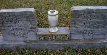 MEADOWS, BERNICE T. - Lawrence County, Arkansas | BERNICE T. MEADOWS - Arkansas Gravestone Photos