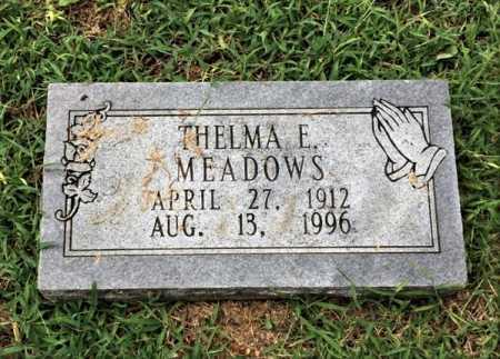 MEADOWS, THELMA E - Lawrence County, Arkansas | THELMA E MEADOWS - Arkansas Gravestone Photos