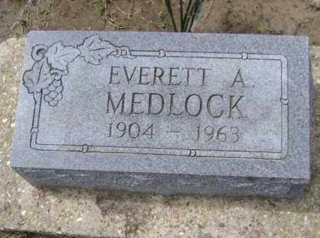 MEDLOCK, EVERETT A. - Lawrence County, Arkansas | EVERETT A. MEDLOCK - Arkansas Gravestone Photos