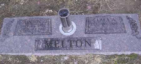 MELTON, CLINTON GEORGE - Lawrence County, Arkansas | CLINTON GEORGE MELTON - Arkansas Gravestone Photos
