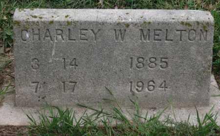 MELTON, CHARLEY W. - Lawrence County, Arkansas | CHARLEY W. MELTON - Arkansas Gravestone Photos