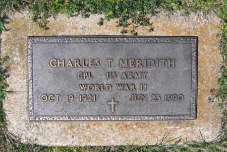 MERIDITH (VETERAN WWII), CHARLES TIBBLES - Lawrence County, Arkansas | CHARLES TIBBLES MERIDITH (VETERAN WWII) - Arkansas Gravestone Photos