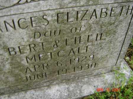 METCALF, FRANCES ELIZABETH - Lawrence County, Arkansas | FRANCES ELIZABETH METCALF - Arkansas Gravestone Photos