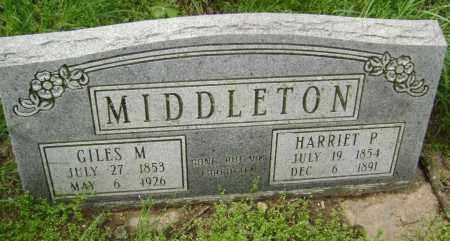MIDDLETON, HARRIET P. - Lawrence County, Arkansas | HARRIET P. MIDDLETON - Arkansas Gravestone Photos