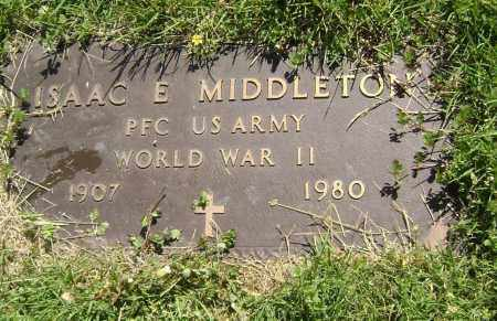 MIDDLETON (VETERAN WWII), ISAAC E, - Lawrence County, Arkansas | ISAAC E, MIDDLETON (VETERAN WWII) - Arkansas Gravestone Photos
