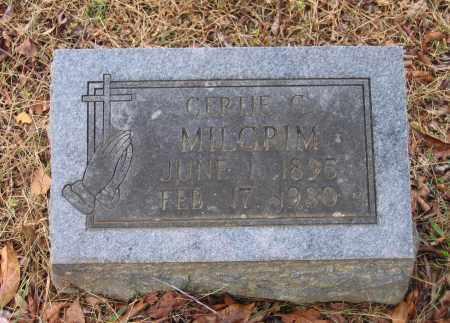 MILGRIM, GERTIE GRACE - Lawrence County, Arkansas | GERTIE GRACE MILGRIM - Arkansas Gravestone Photos