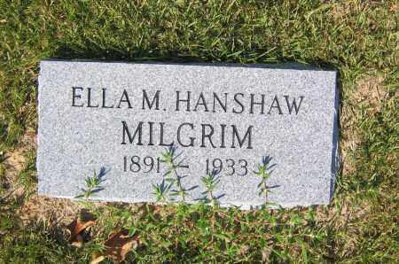 HANSHAW MILGRIM, MARGARET ELLA - Lawrence County, Arkansas | MARGARET ELLA HANSHAW MILGRIM - Arkansas Gravestone Photos